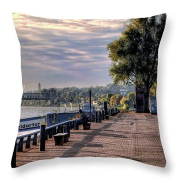 Throw Pillow featuring the photograph Morning Along The Rhine by Jim Hill
