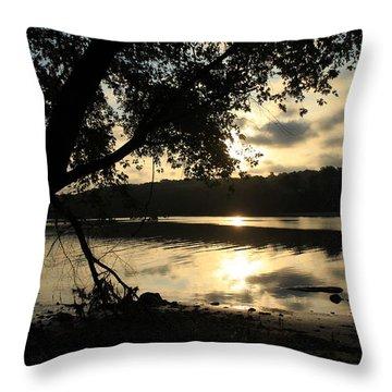 Morning Arises Throw Pillow by Karol Livote