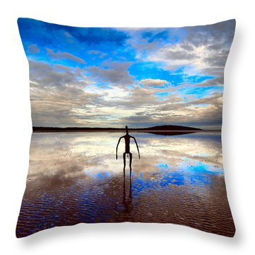 Morning Arrival At Lake Ballard Throw Pillow