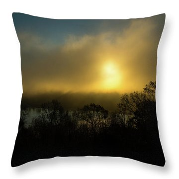 Throw Pillow featuring the photograph Morning Arrives by Karol Livote