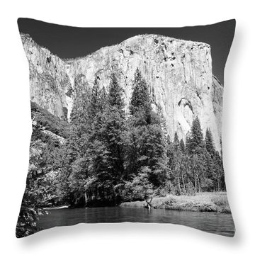 Throw Pillow featuring the photograph Morning At El Capitan by Sandra Bronstein