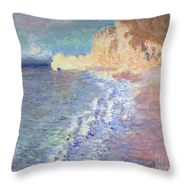 Morning At Etretat Throw Pillow by Claude Monet