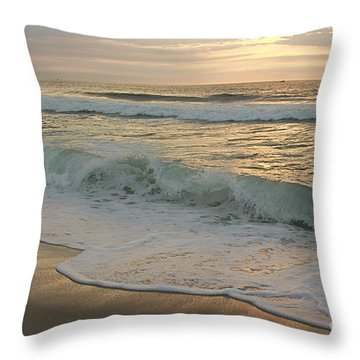 Morning  At The Beach Throw Pillow