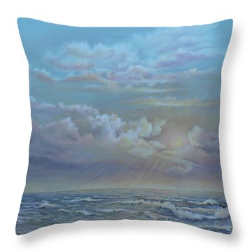 Morning At The Ocean Throw Pillow