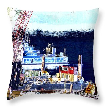 Morning Blooms Throw Pillow by Rachel Christine Nowicki