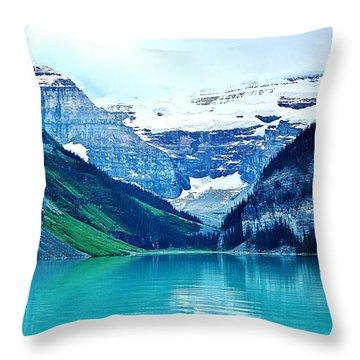 Morning Blue Throw Pillow