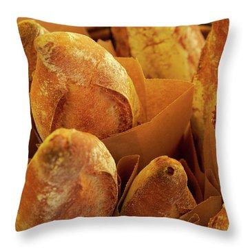 Morning Bread Throw Pillow