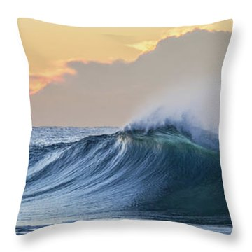 Morning Breaks Throw Pillow by Az Jackson