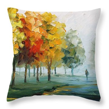 Morning Breeze Throw Pillow by Leonid Afremov