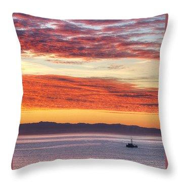 Morning Catch 2 Throw Pillow