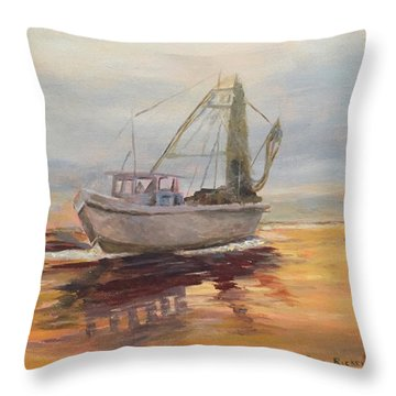 Morning Catch Throw Pillow