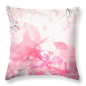 Morning Chirp Throw Pillow by Trilby Cole