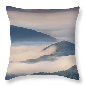 Morning Cloud Colors Throw Pillow