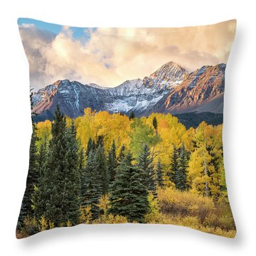 Morning Clouds, Wilson Peak Throw Pillow