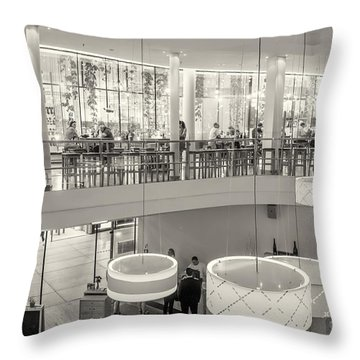 Throw Pillow featuring the photograph Morning Coffeetime In Munich by Juergen Klust
