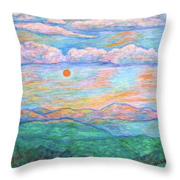 Morning Color Dance Throw Pillow by Kendall Kessler