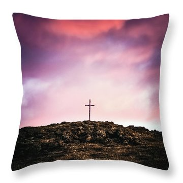Morning Cross Throw Pillow