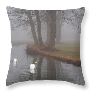 Morning Cruise Throw Pillow
