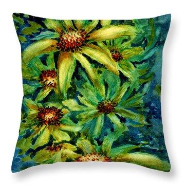 Morning Daisies Throw Pillow