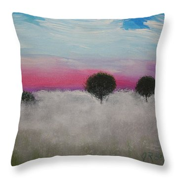 Morning Dew Throw Pillow by J R Seymour
