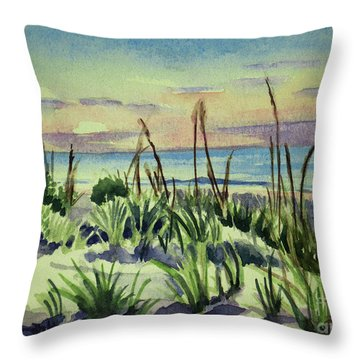 Morning Dunes  7-7-2017 Throw Pillow