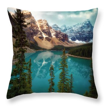 Morning Eruption  Throw Pillow by Nicki Frates