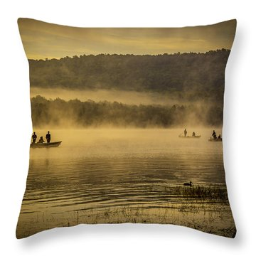 Catching Lunch Throw Pillow