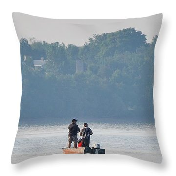 Throw Pillow featuring the photograph Morning Fish by Al Fritz