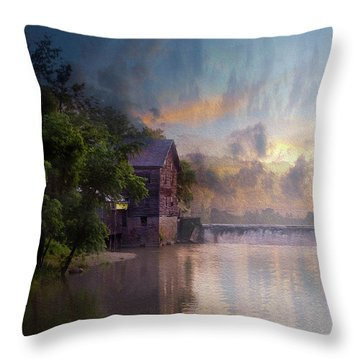 Throw Pillow featuring the photograph Morning Fishing  by Joel Witmeyer