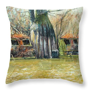Morning Flight At Little Basin Throw Pillow