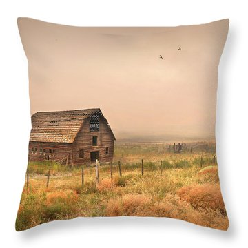 Throw Pillow featuring the photograph Morning Flight by John Poon