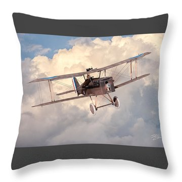 Morning Flight - Se5a Throw Pillow by David Collins