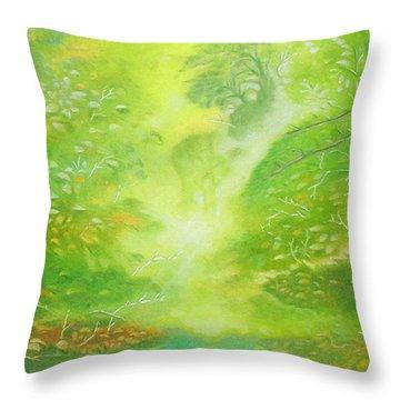 Morning Flora Throw Pillow