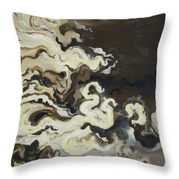 Morning Flow Throw Pillow