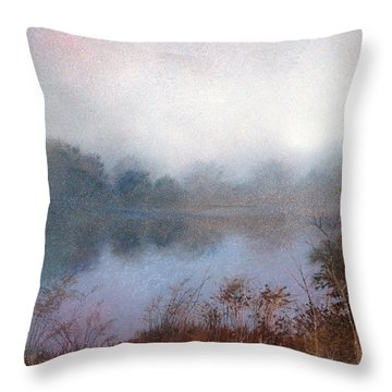 Morning Fog Throw Pillow by Andrew King