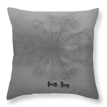 Morning Fog Throw Pillow by Jill Smith
