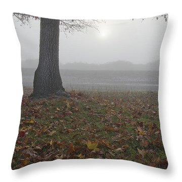 Morning Fog Throw Pillow by Jim And Emily Bush