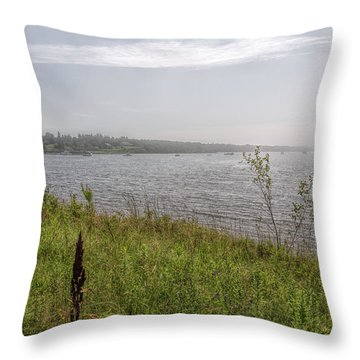 Throw Pillow featuring the photograph Morning Fog by John M Bailey