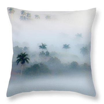 Morning Fog, Vinales Valley Throw Pillow