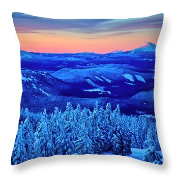 Morning From Timberline Lodge Throw Pillow