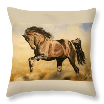 Morning Game Throw Pillow by Melita Safran