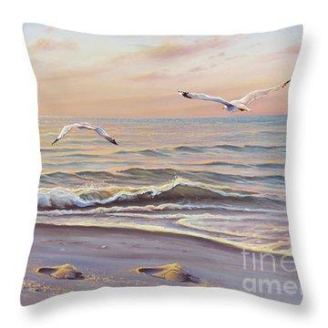 Morning Glisten Throw Pillow by Joe Mandrick
