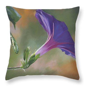 Morning Glory Throw Pillow by Alecia Underhill