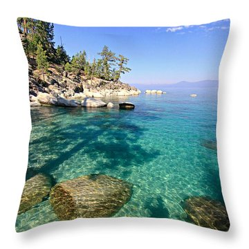 Morning Glory At The Cove Throw Pillow