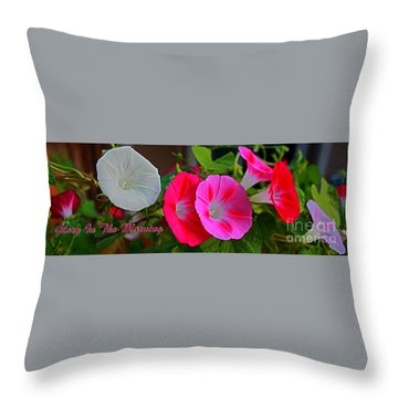 Morning Glory Banner Throw Pillow