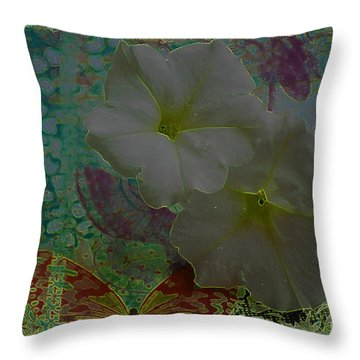 Morning Glory Fantasy Throw Pillow