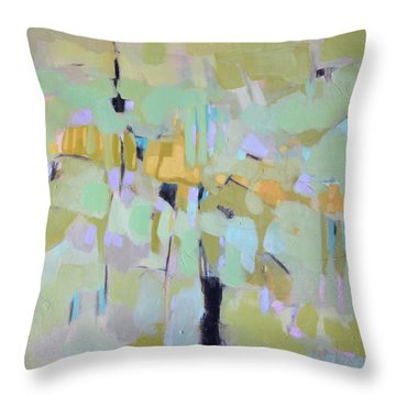 Morning Glory Throw Pillow by Filomena Booth