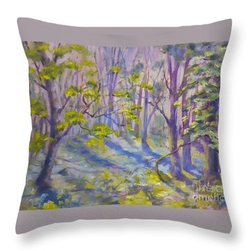 Morning Glory Throw Pillow by Genevieve Brown