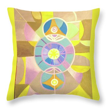Morning Glory Geometrica Throw Pillow