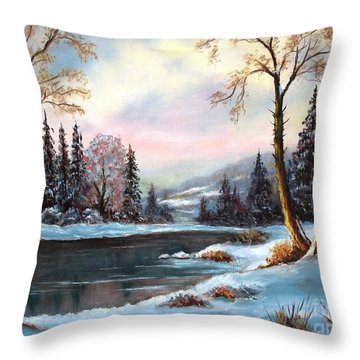 Throw Pillow featuring the painting Morning Glory by Hazel Holland